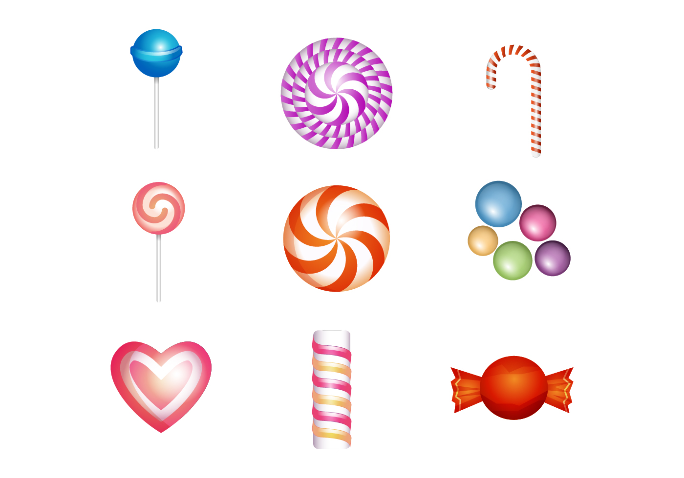 free sweet and candies icon vector download free vector