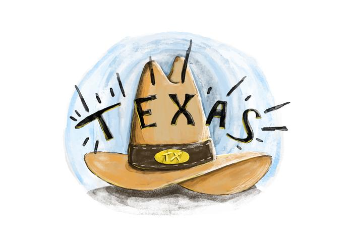 Free Texas Hat Watercolor Vector