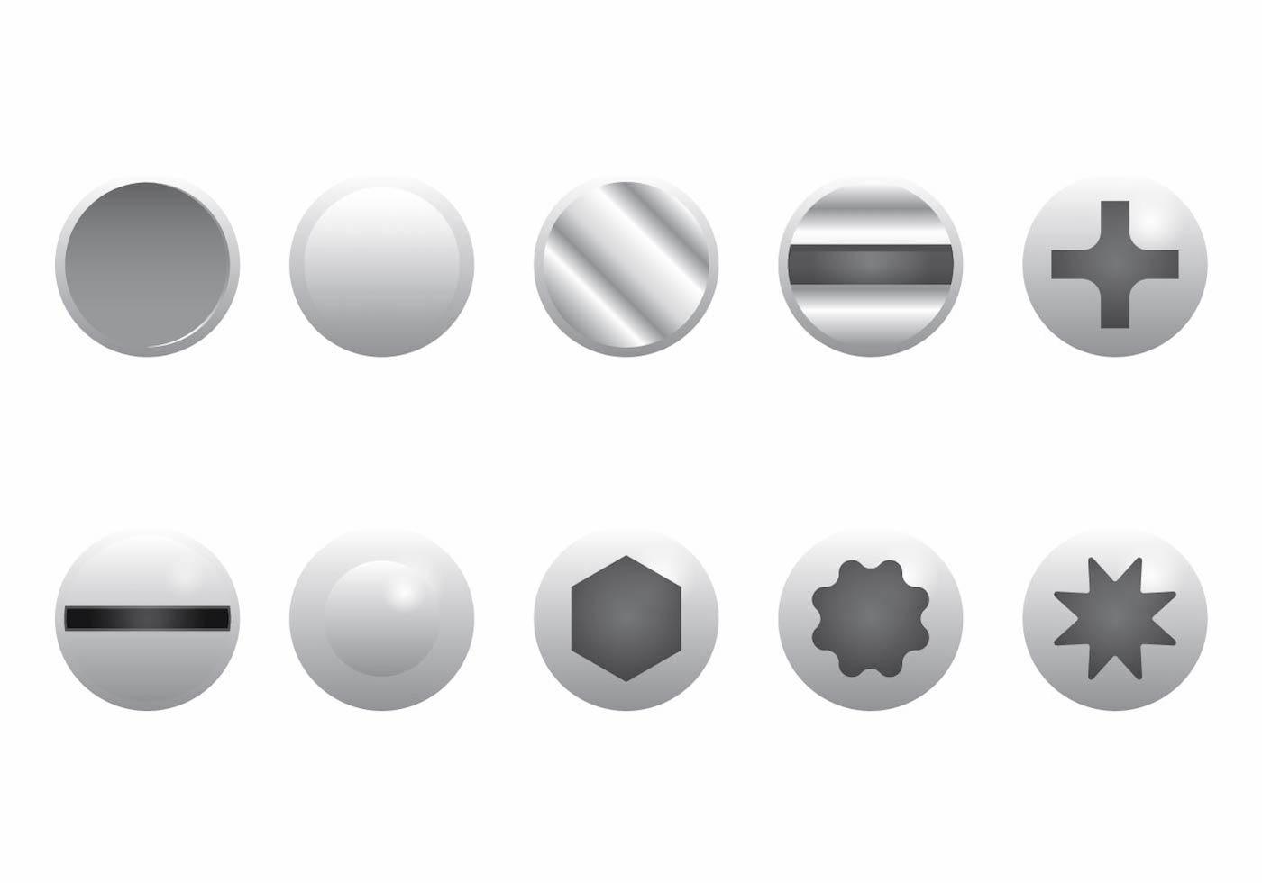 nail head set download free vector art stock graphics