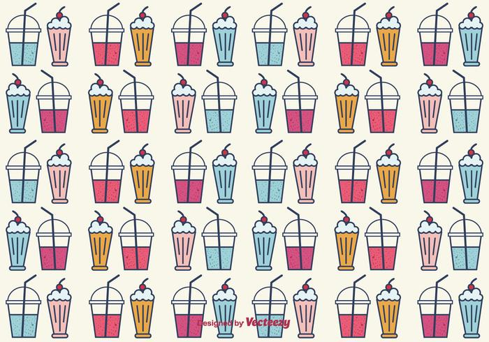 Smoothie et Milkshake Vector Background