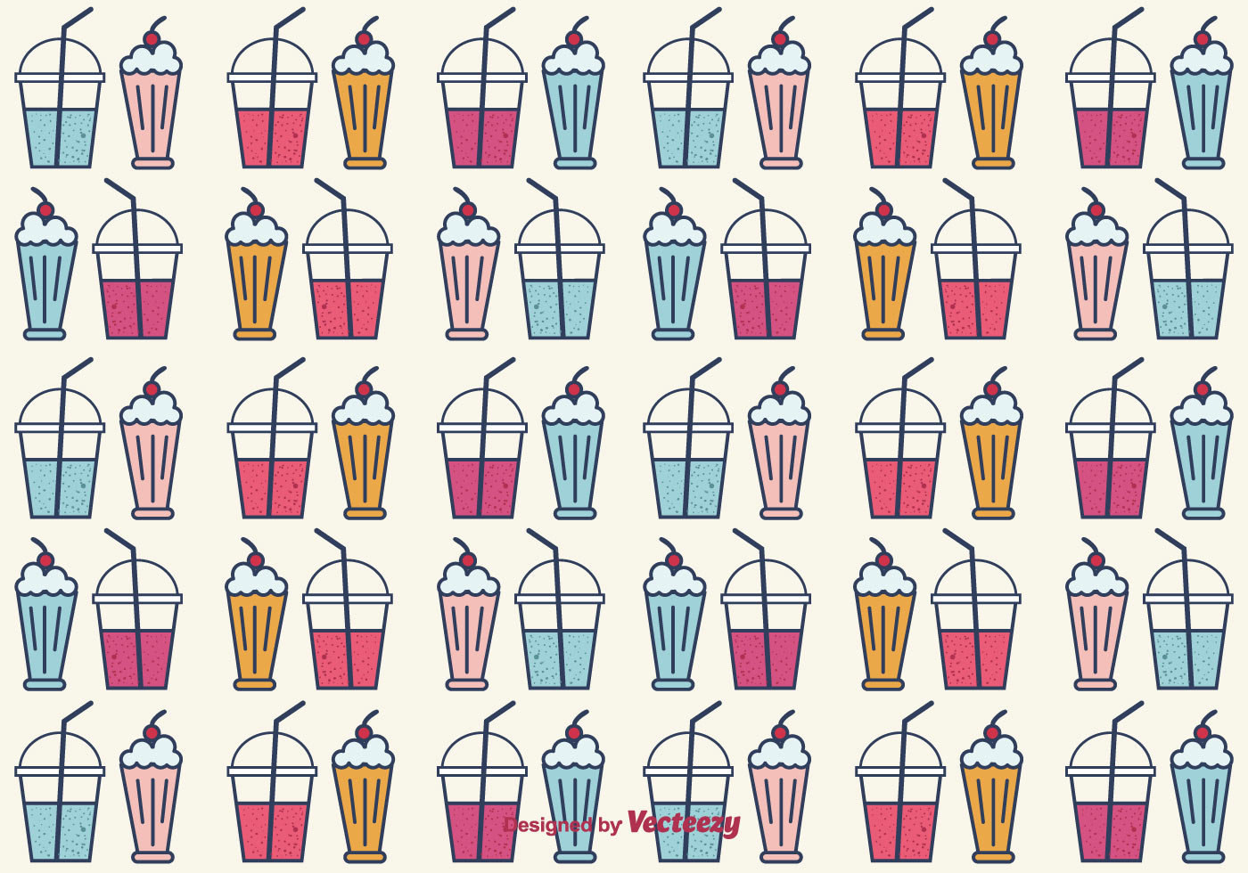 Smoothie And Milkshake Vector Background Download Free