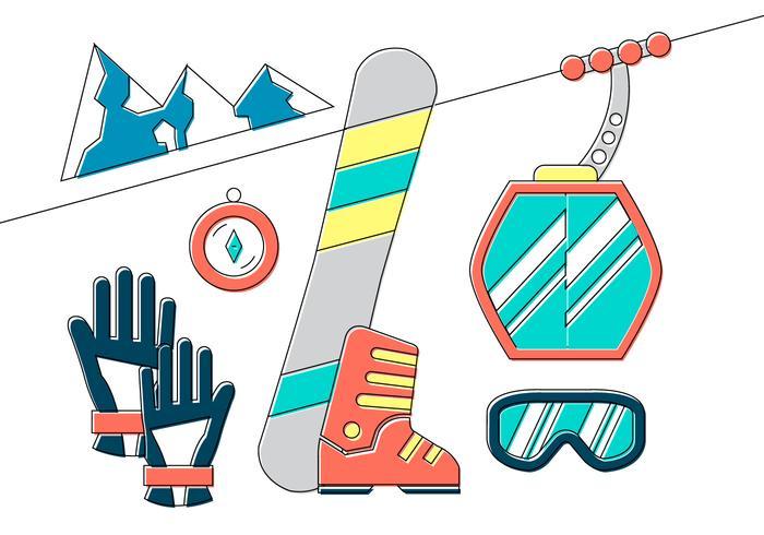 Vinter Sport Elements vektor