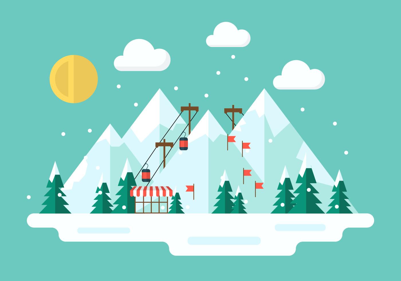 free winter vector illustration download free vector art. Black Bedroom Furniture Sets. Home Design Ideas