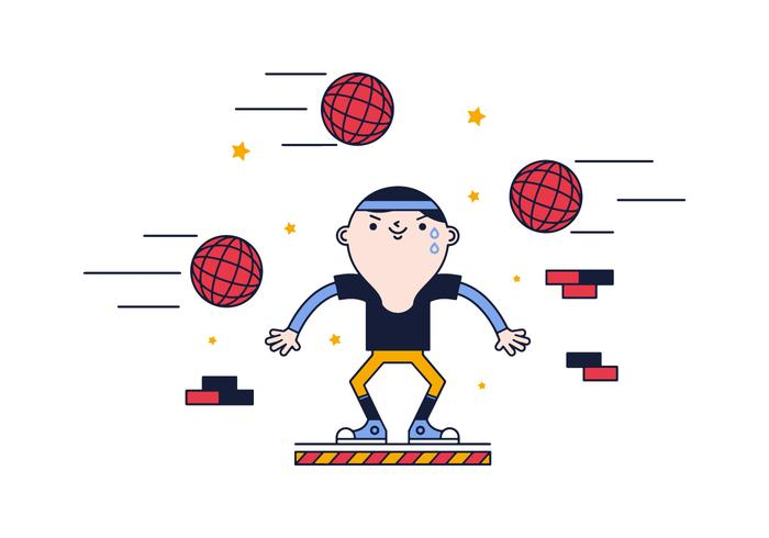 Free Dodge Ball Vector