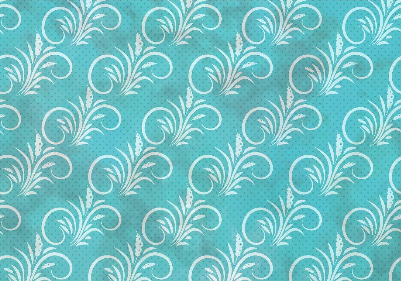 Blue Vector Western Flourish Seamless Pattern Download
