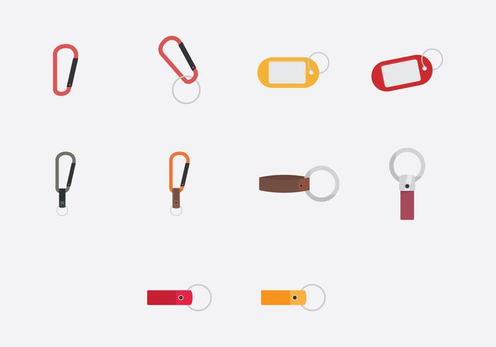 Key Chains Template Icon Set