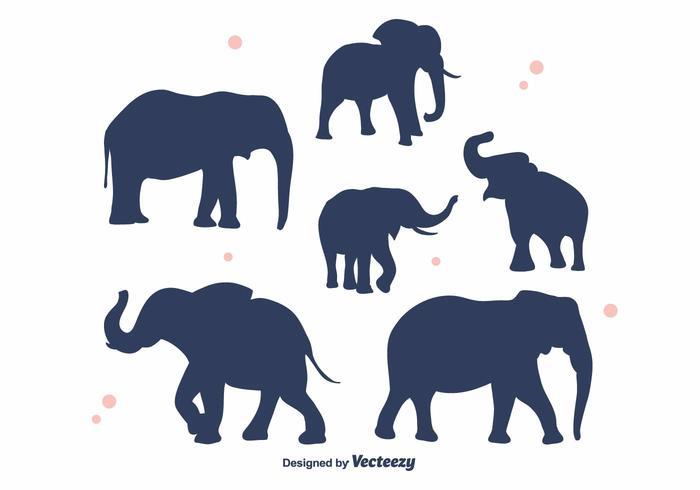 Elephant Silhouette Vector