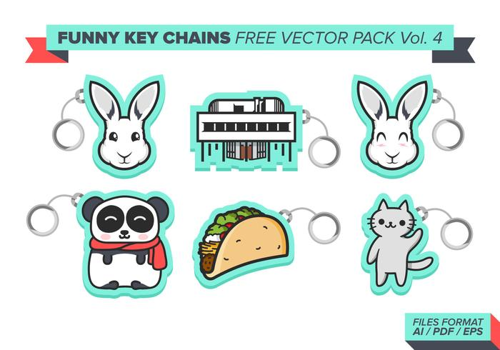 Funny Key Chains Free Vector Pack Vol. 4