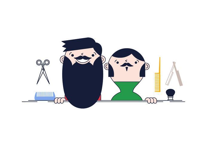 Free Beard Grooming Vector