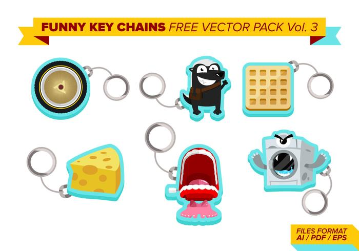 Funny Key Chains Free Vector Pack Vol. 3