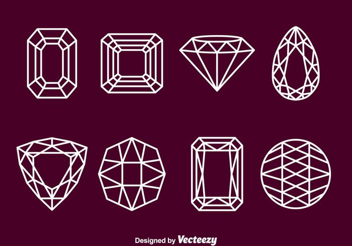 Gemme Stone Outline Icons