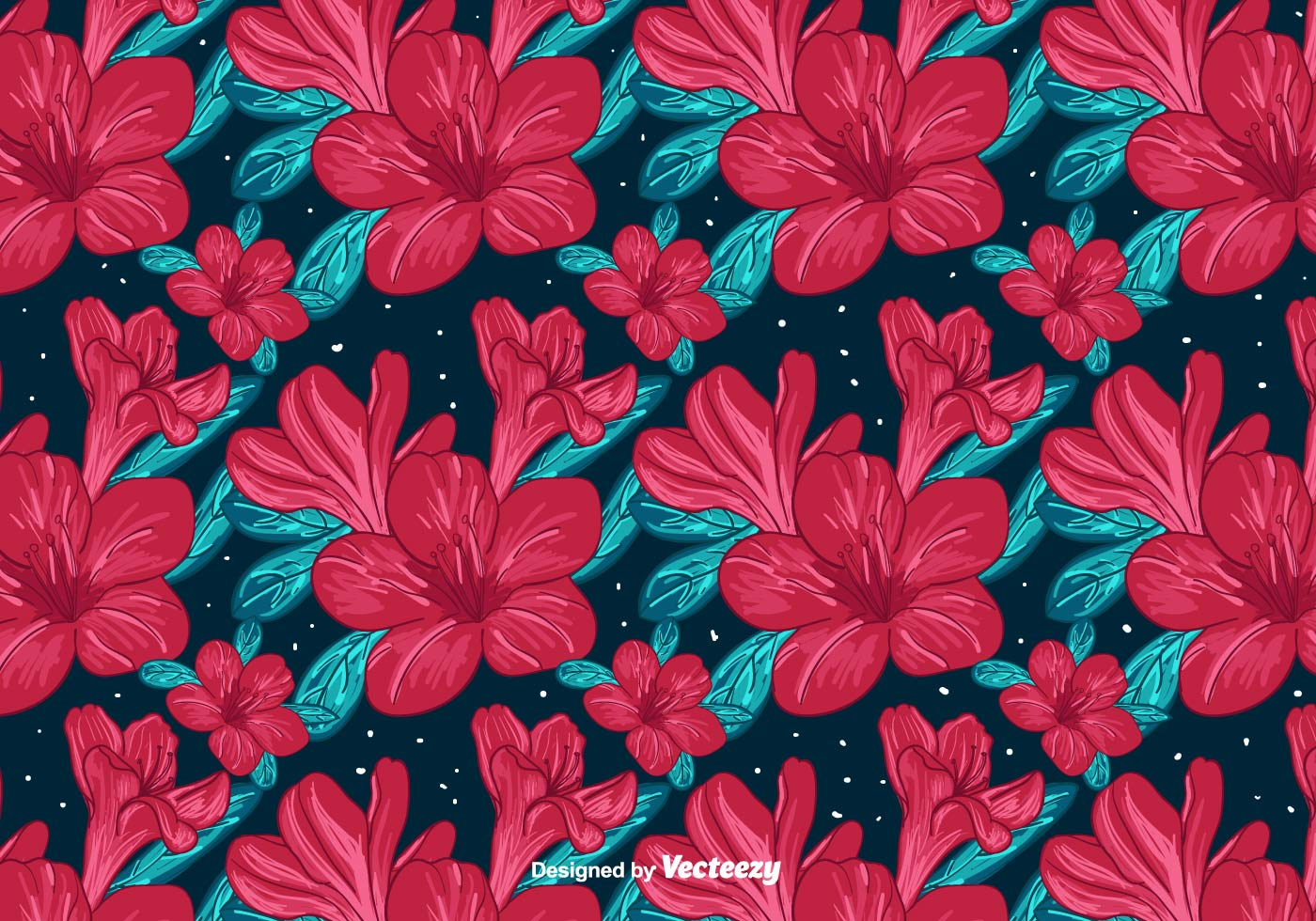 Red Flowers Background Download Free Vectors Clipart