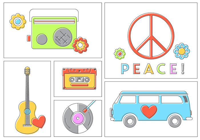 Hippie Vector Set