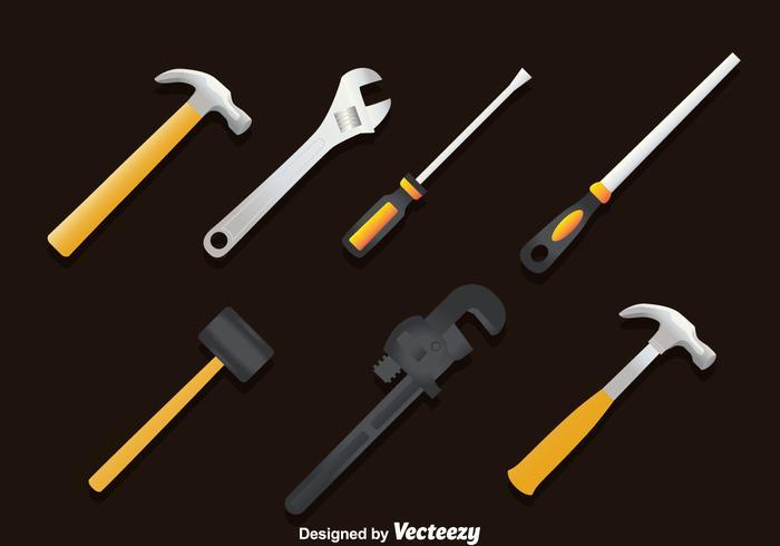 Ensemble vectoriel des outils de travail