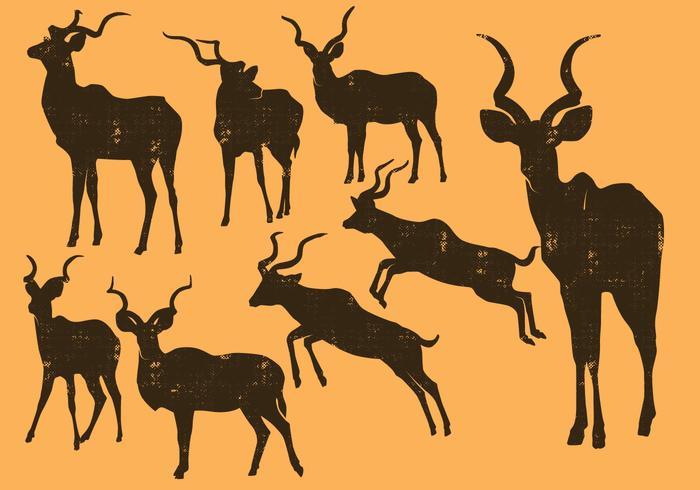 Silhouette Kudu vecteur