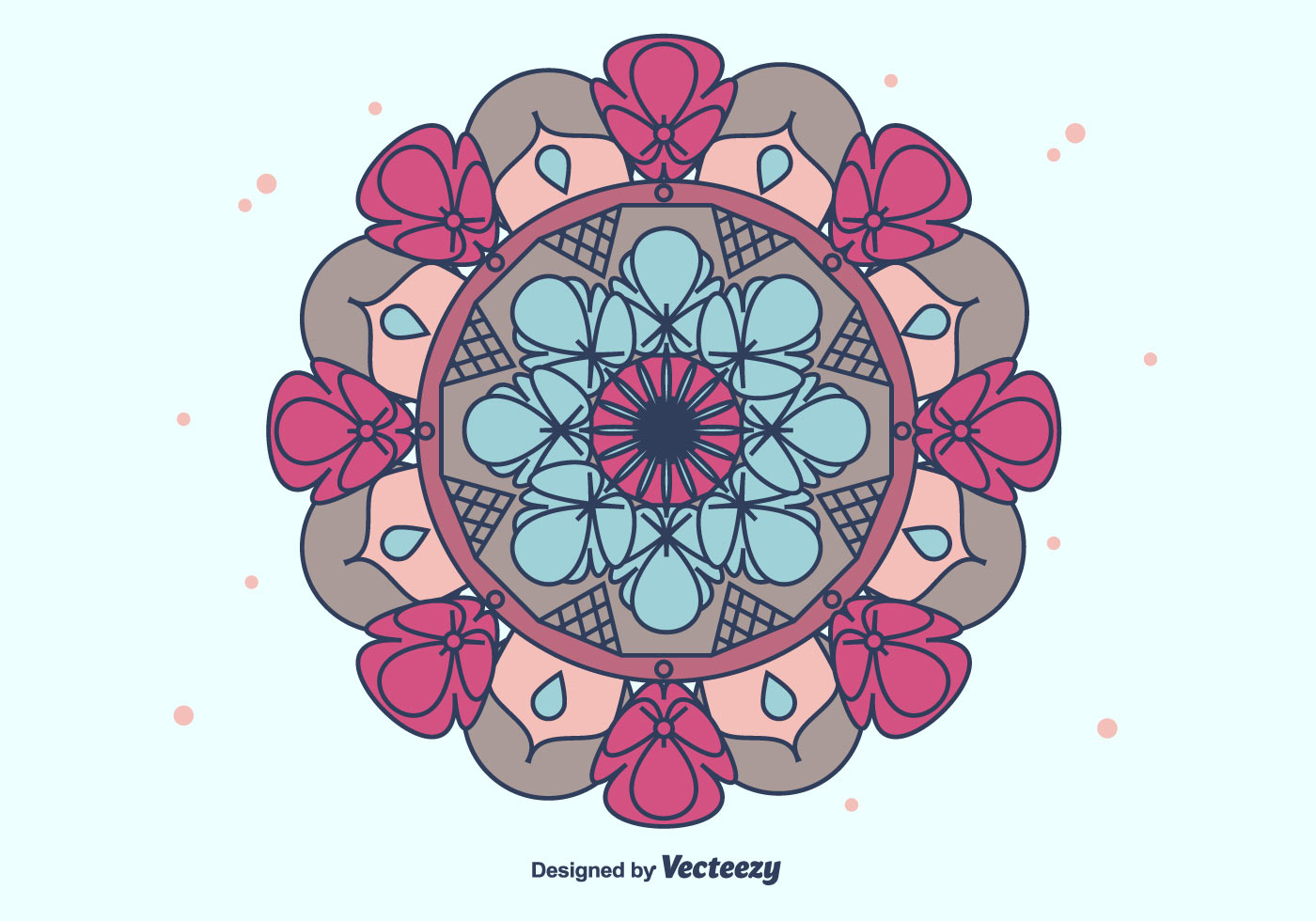 Colorful Mandala Vector Download