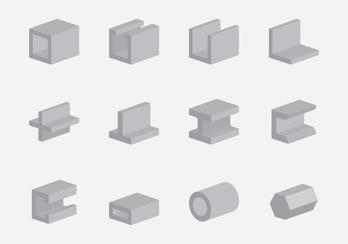 Conjunto de ícones de construção do Rebar