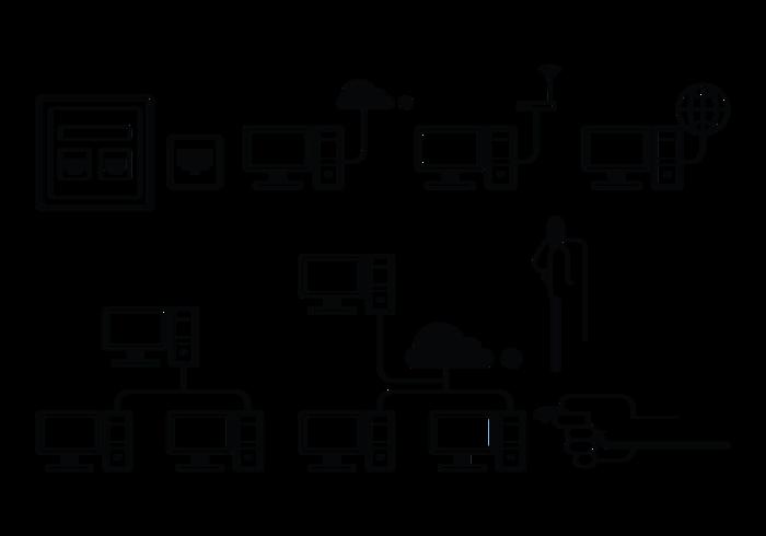 rj45 vector icons