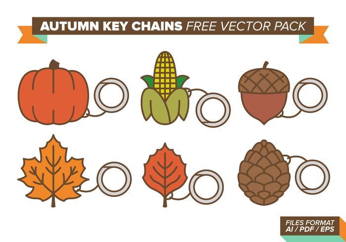 Porte-clés d'automne Pack de vecteur gratuit