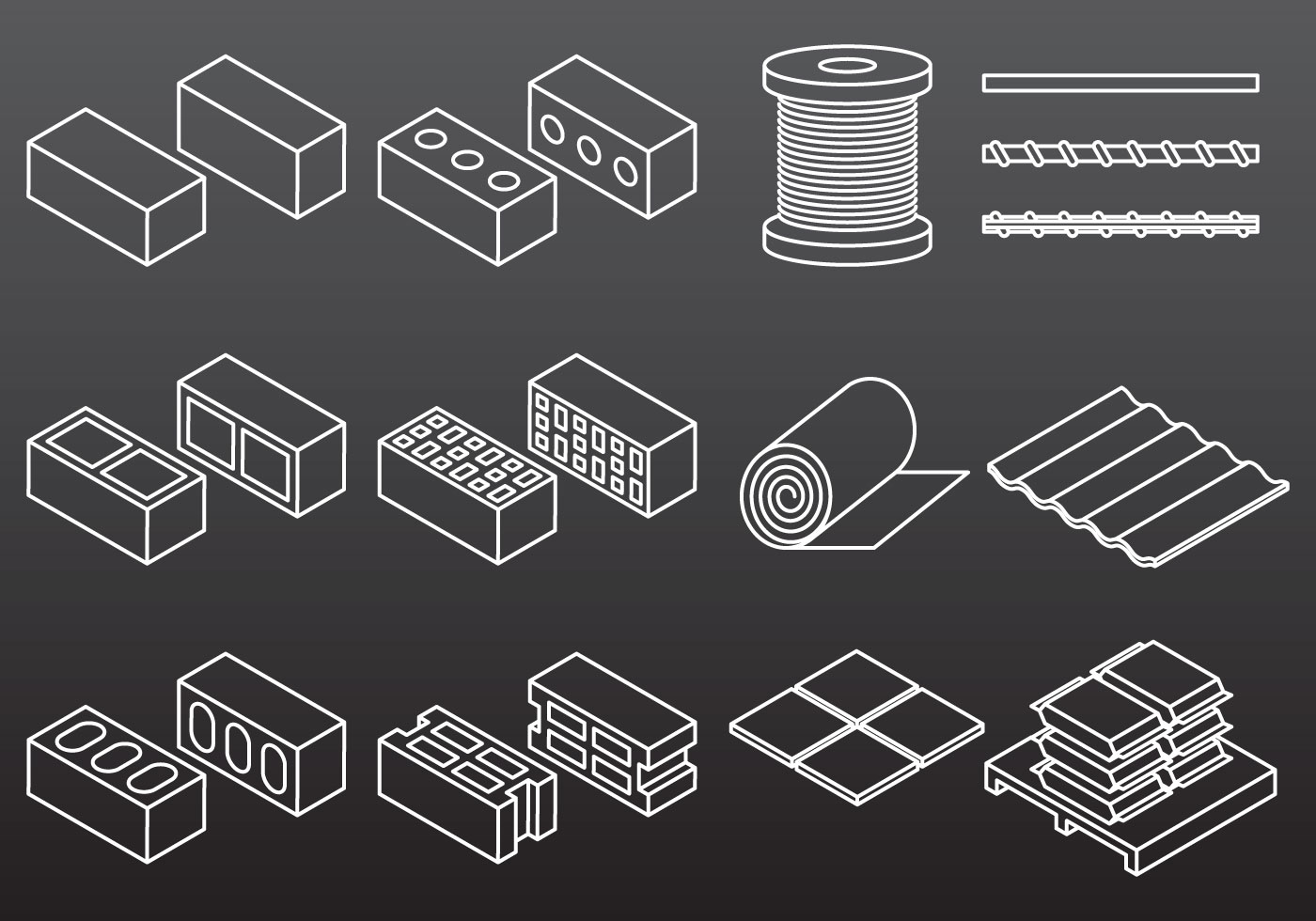 Construction material icons download free vector art - Material de construccion ...