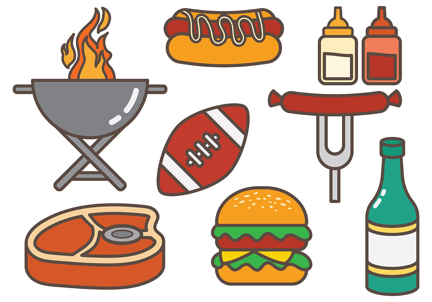 Free tailgate food vector download free vector art stock graphics