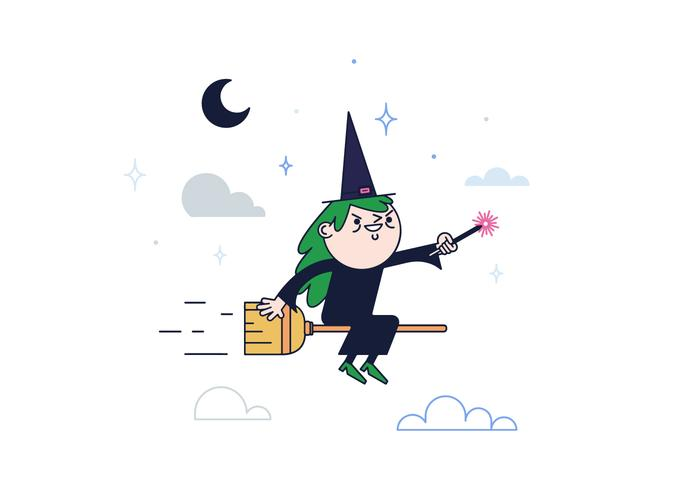 Free Witch Vector