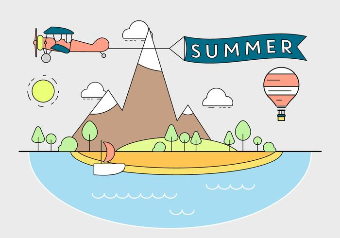 Freie Sommerillustration
