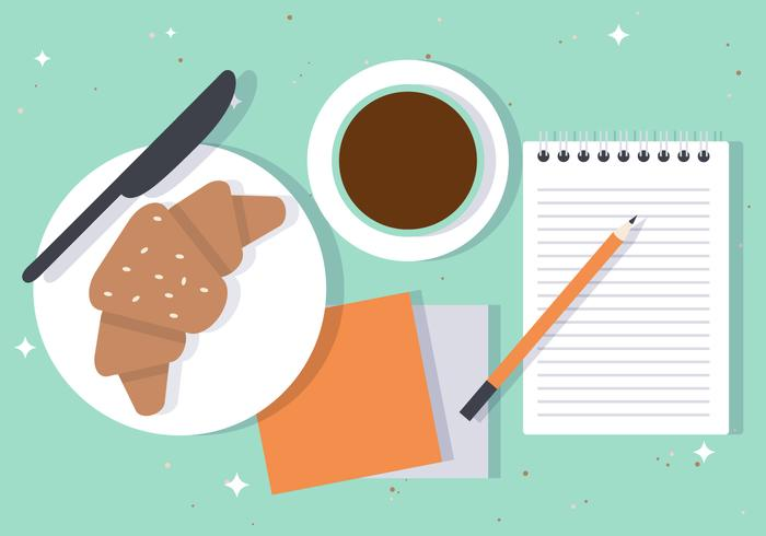 Croissant Break Vector Illustration