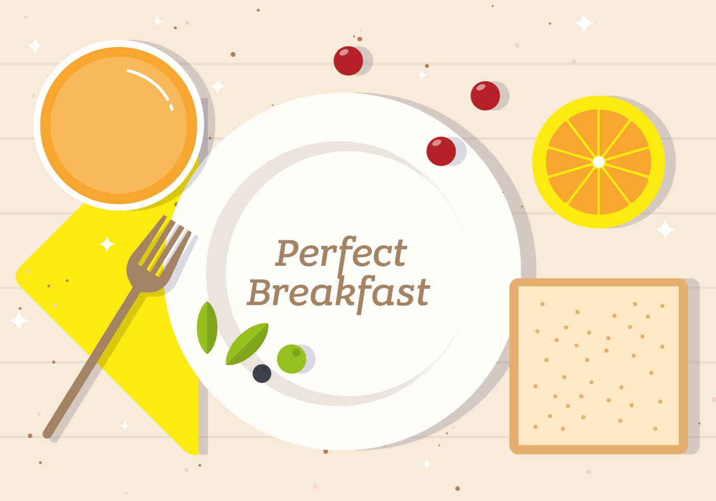 perfect breakfast vector illustration   download free