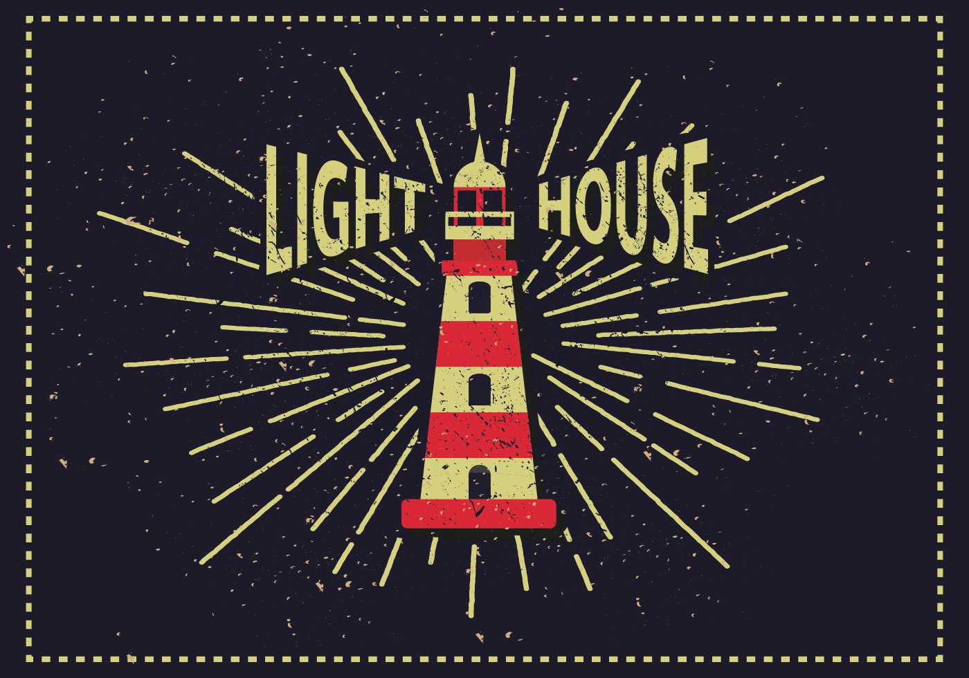 vintage lighthouse vector illustration download free