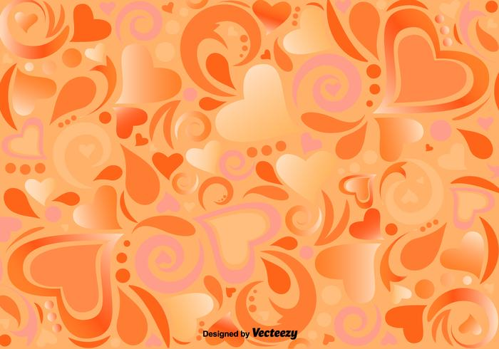 Vector Pattern With Ornamental Hearts And Shapes