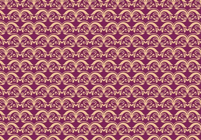 Magenta Vector Western Flourish Pattern