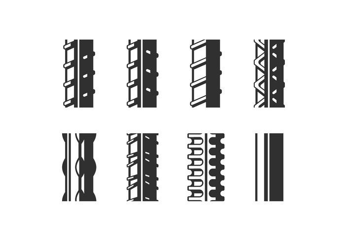 Vectores de corrugado