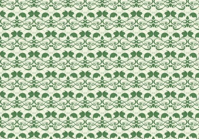 Emerald Vine Vector Western Flower Pattern