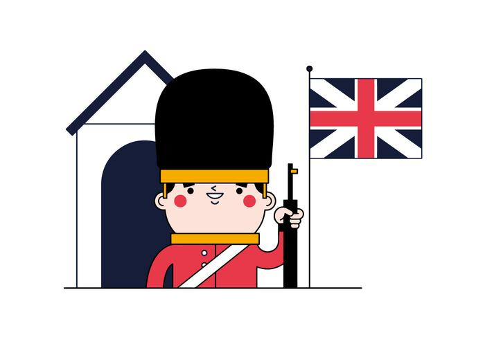 English Guard Vector