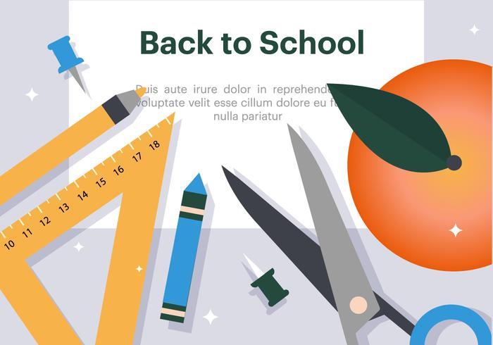 Free Flat Back to School Vector Illustration