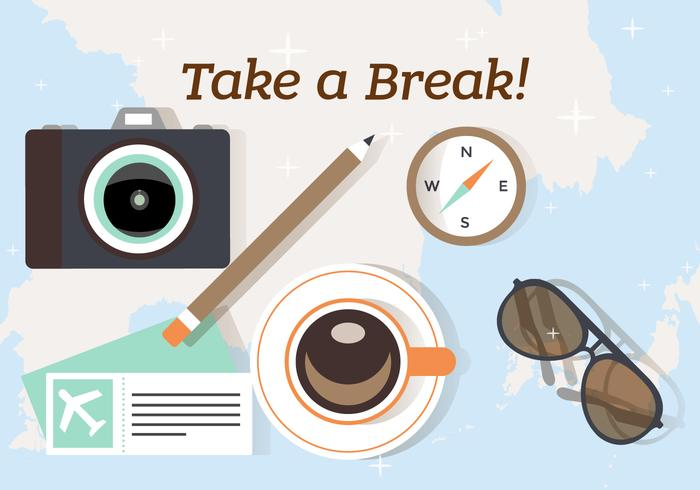 Free Take a Break and Travel Illustration