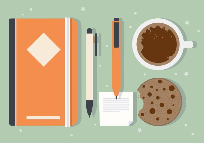 Free Morning Cookie Vector Illustration