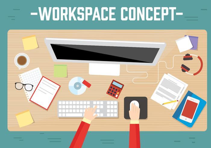 Free Workspace Vector