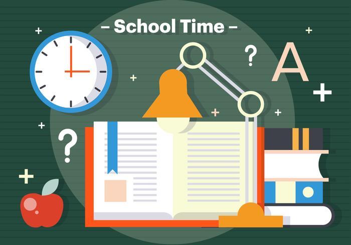 Illustration vectorielle gratuite du temps scolaire