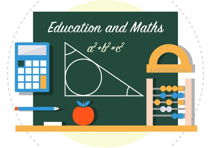 Math Back To School Vector Illustration