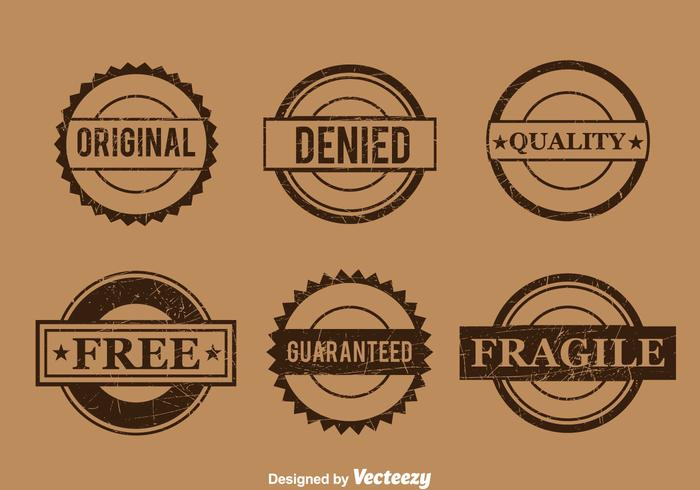 Commercial Brown Stamp Vector