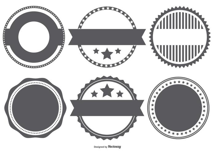 Vector Badge Stempel Shapes