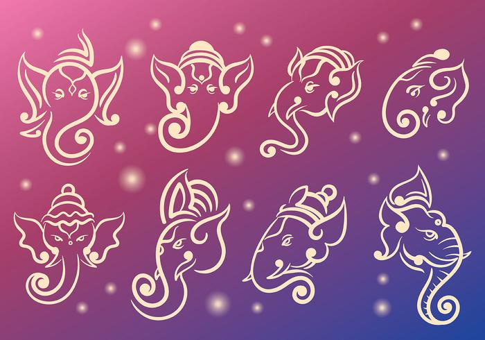 Ganesh Icons Vector