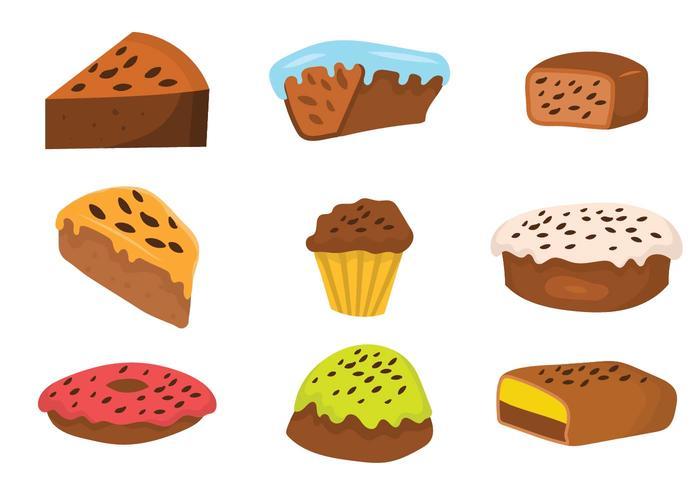 Conjunto de vetores de bolo de passas grátis