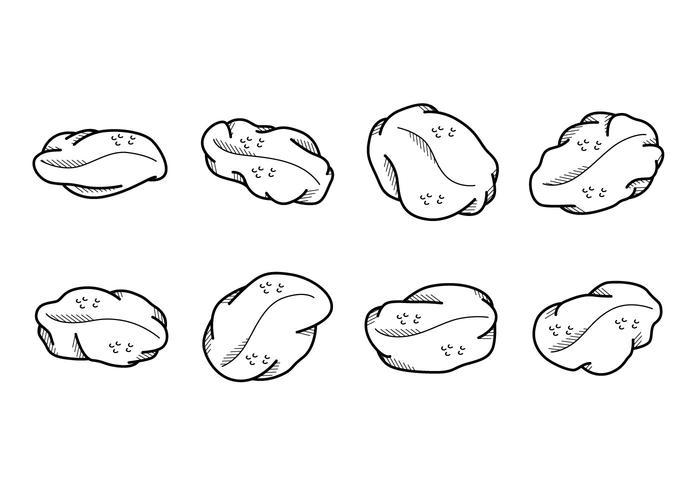 Vecteur des raisins de dessin animé