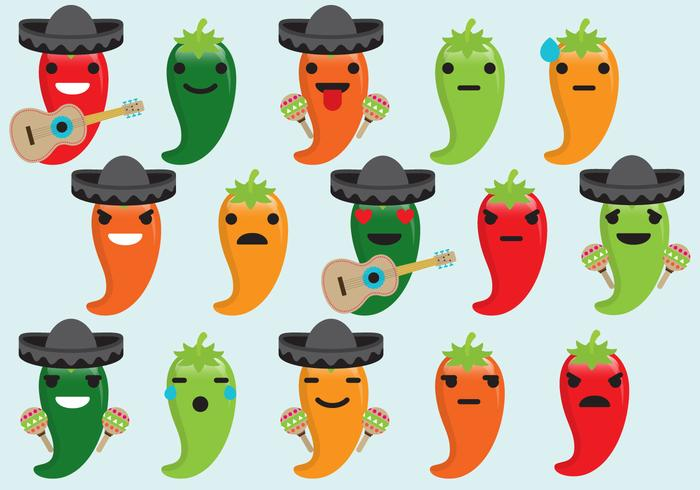 Chili Mariachi Emoticons