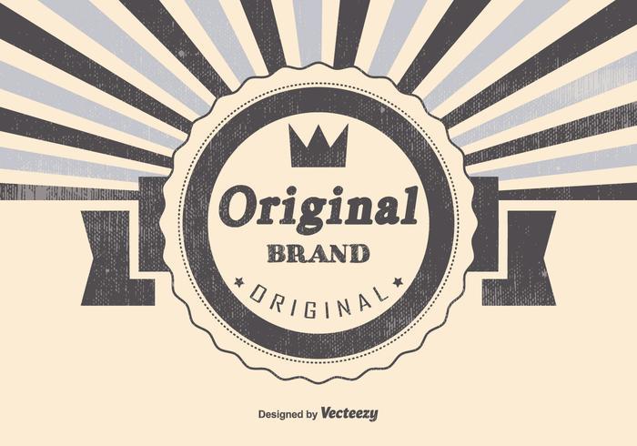 Retro Original Brand Illustration