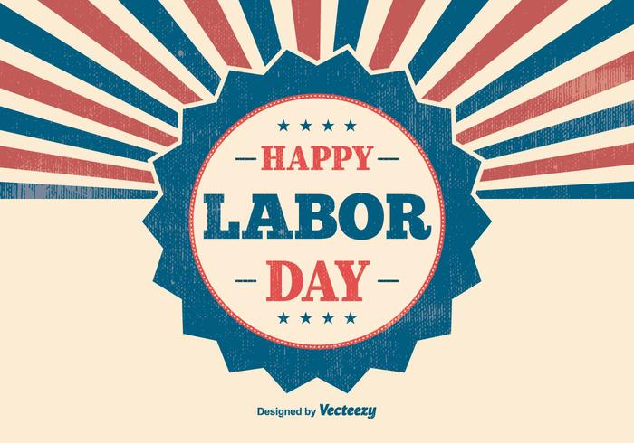 Retro Labor Day Illustration