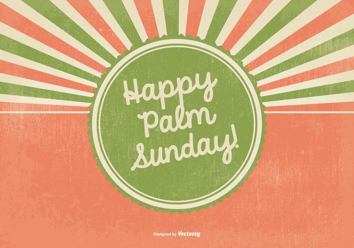Retro Happy Palm Sunday Illustration